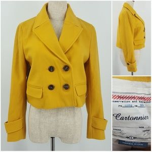 Anthropologie Small Cartonnier Yellow Peacoat